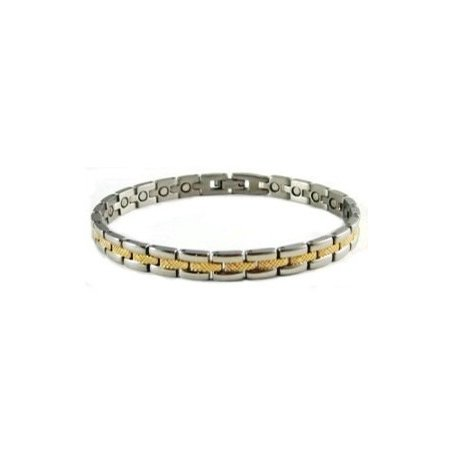 Railroad Women's Stainless Steel Magnetic Bracelet With Powerful Magnets, Magnetic Bracelet For Women ()