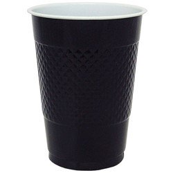 Hanna K Plastic Cups, 16 Oz, Black, 50 Ct - Blacklight Cups