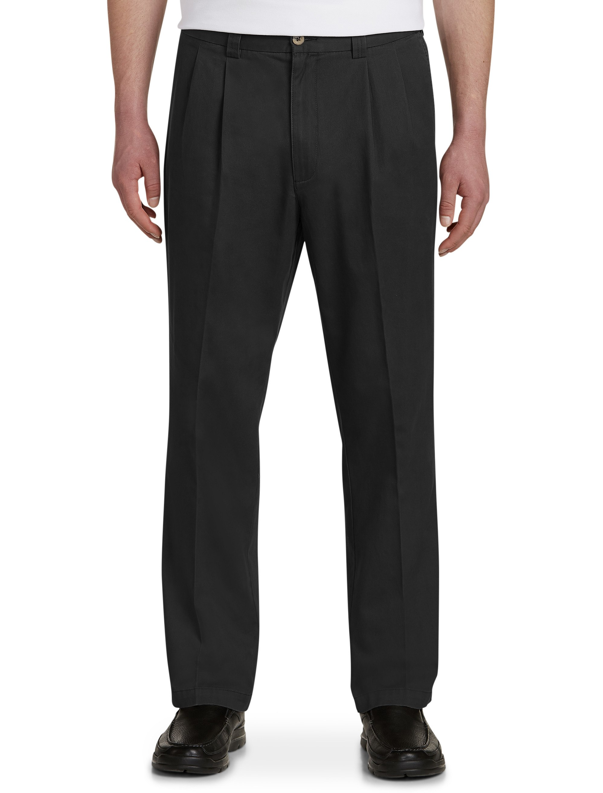 Men's Big & Tall Harbor Bay Waist-Relaxer Pleated Pants – Unhemmed