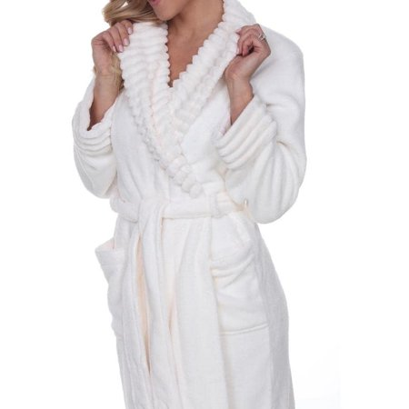 cddaf4ea2728 White Mark - White Mark Women s Super Soft Lounge Robe - Extended Sizes -  Walmart.com
