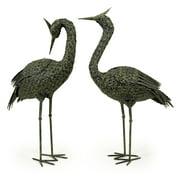 Set of 2 Metal Coastal Birds