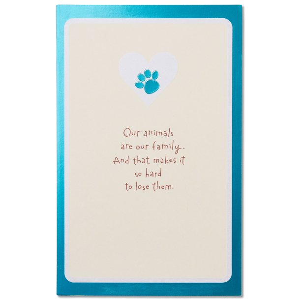 Sympathy Card For Pet Loss With Foil