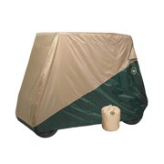 Greenline Two Tone Golf Cart Storage Covers by Eevelle - Ryder Series Slip-on 410 Durepel Denier - Tan / Green