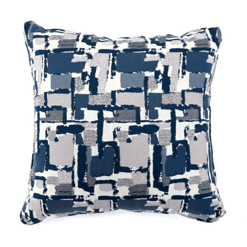 "Furniture of America Kella 22"" Square Throw Pillow in Blue (Set of 2) by Furniture of America"