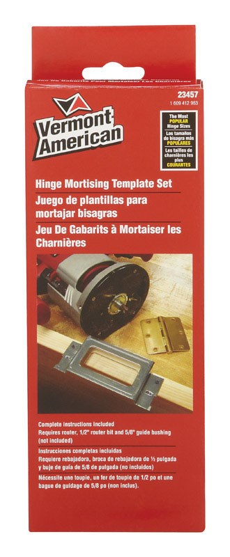 VERMONT AMERICAN Hinge Mortising Template Set by Vermont American