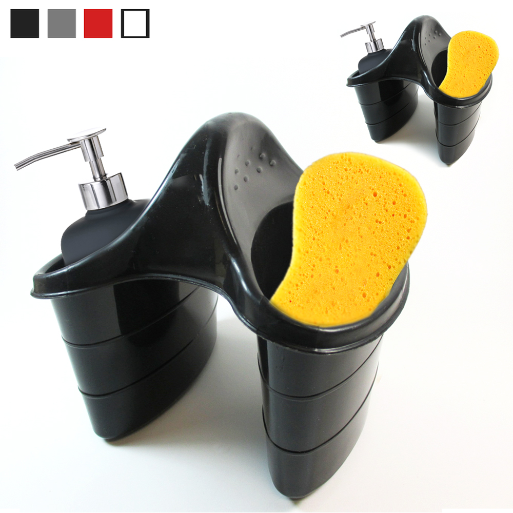 2 Double Sink Caddy Sider Kitchen Organizer Storage Sponge Brush Holder Tool Dry