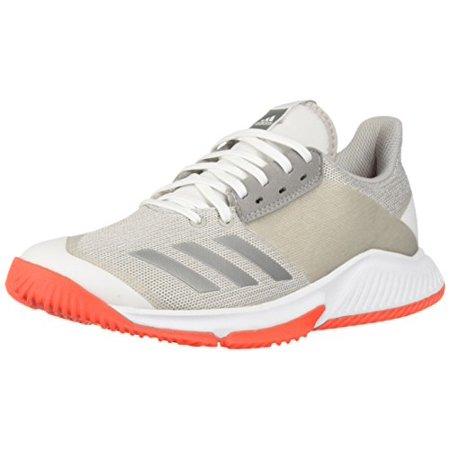 online store f3acb 8555e adidas Women s Crazyflight Team Volleyball Shoe White Silver Metallic Grey  14 M US - Walmart.com