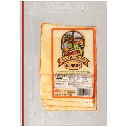 El Quesero Sliced Muenster Cheese, 6 oz