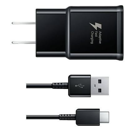 C19 C13 Cable (UrbanX Black OEM Adaptive Fast Rapid Wall Charger and Type-C USB Cable for Samsung Galaxy Note 8 )