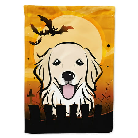 halloween golden retriever flag canvas house size
