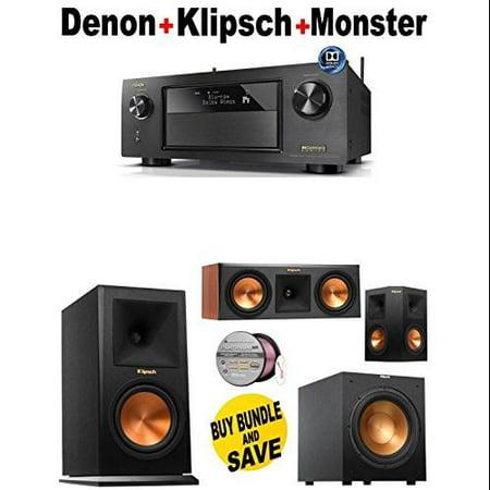 Denon-AVRX4200W + Klipsch-RP160MCH + Klipsch-RP250CCH + Klipsch-RP250SBK + Klipsch-R10SW + Monster... by