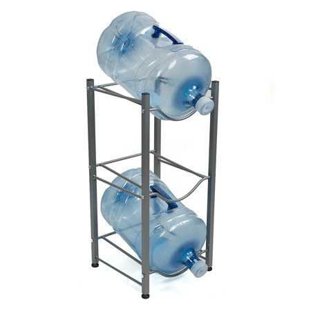 Space Saver Utility Jugs - Mind Reader 3 Tier Stainless Steel Heavy Duty Water Cooler Jug Rack, Silver