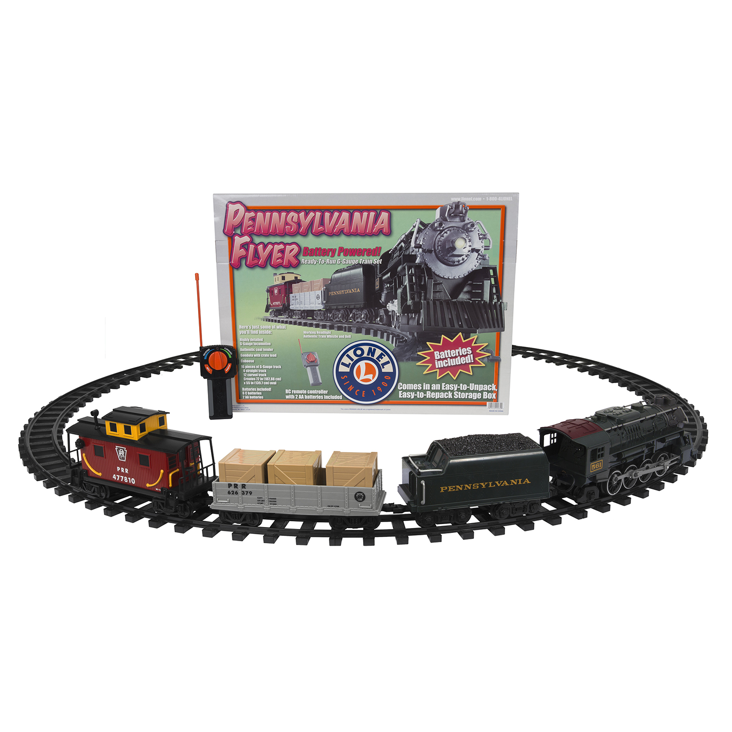 Lionel Trains Pennsylvania Flyer Seasonal Freight Ready to Play Set
