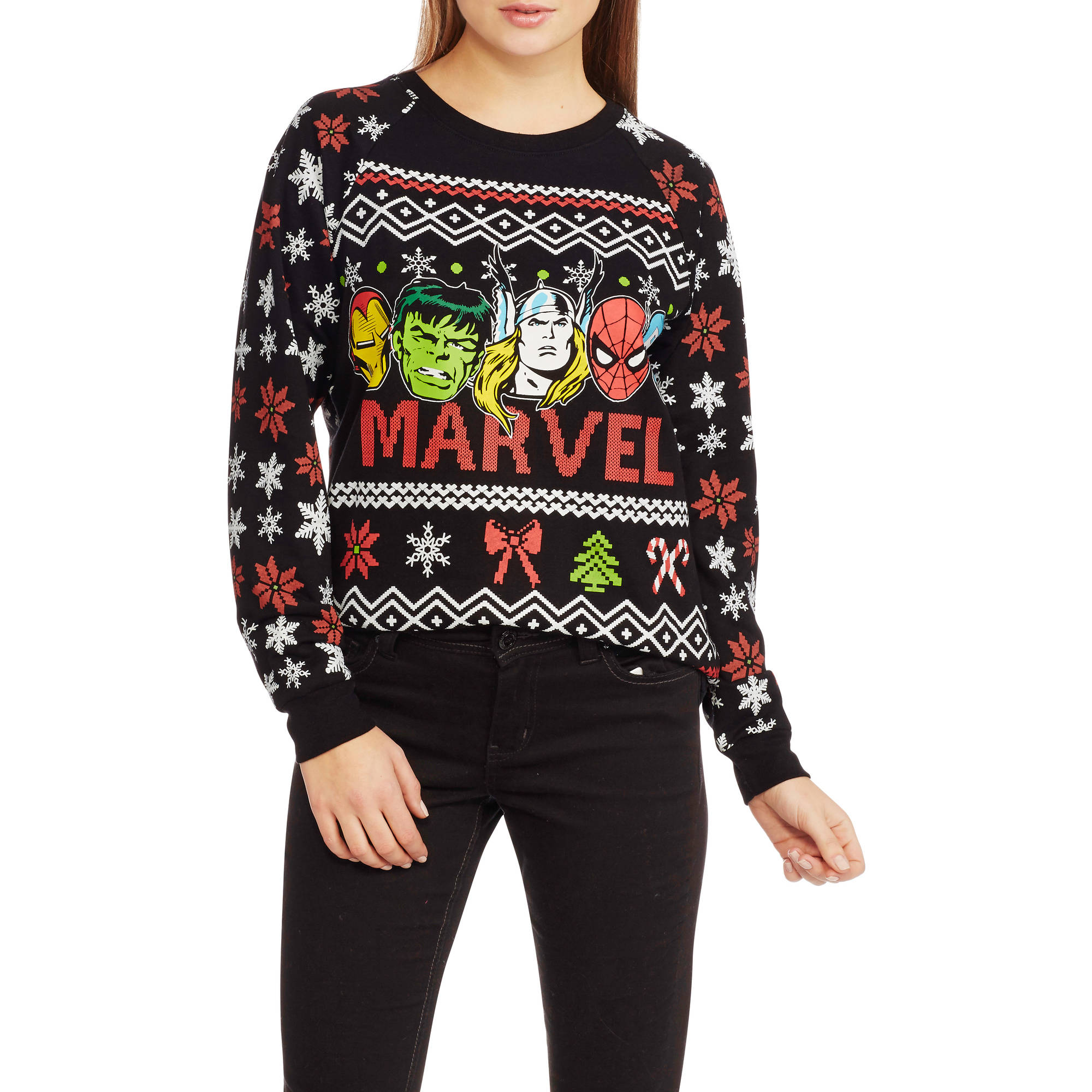 Marvel Juniors Ugly Christmas Pullover