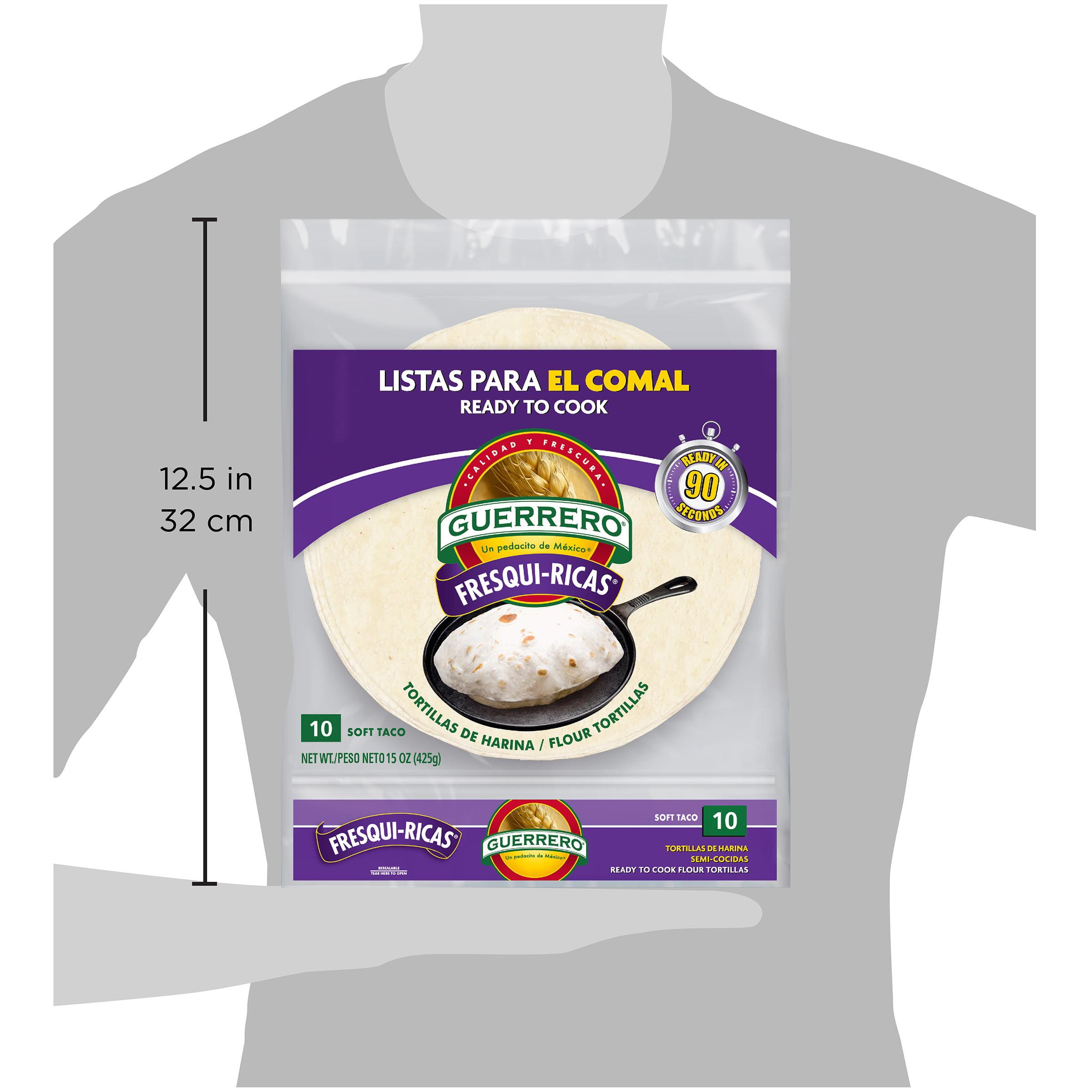 Guerrero Fresqui Ricas Ready To Cook Soft Taco Flour Tortillas 10 Count Walmart Com Walmart Com