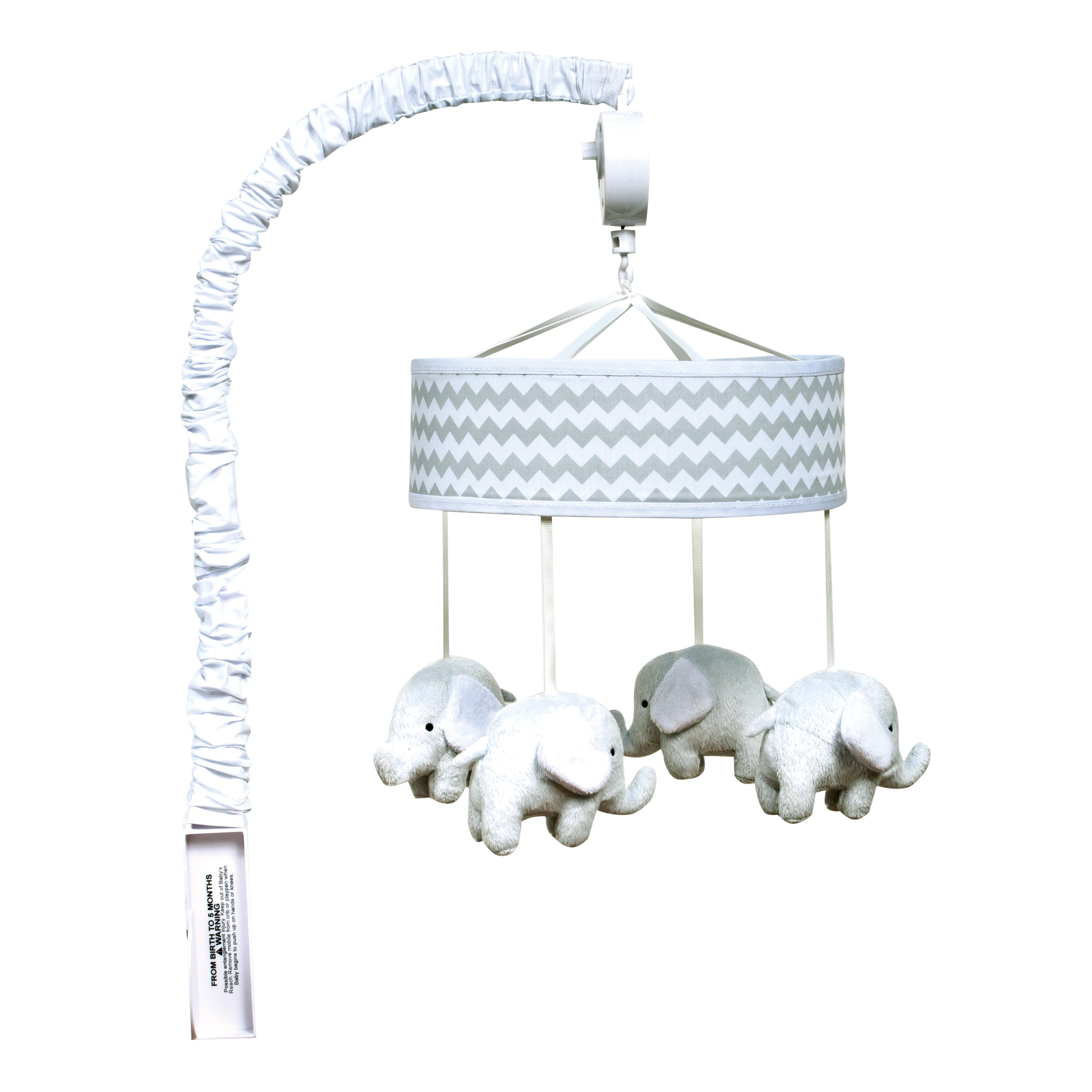Trend Lab Dove Gray Chevron Musical Mobile by Trend Lab