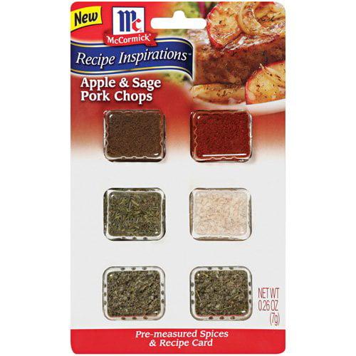 McCormick Recipe Inspirations Spices For Apple & Sage Pork Chops, .26 oz