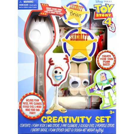 Toy Story 4 Craft Creativity Art Set: Make Your Own Forky and Other