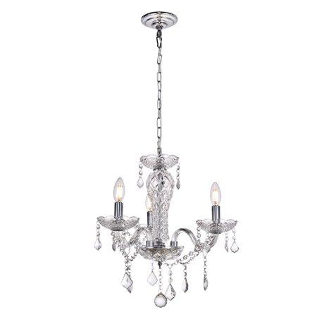 "Elegant Lighting LD4001D19 Valencia 3-Light 19"" Wide Taper Candle Chandelier"