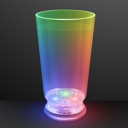 - FlashingBlinkyLights Multicolor Light Up LED Beer Pint Glass