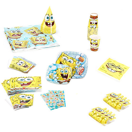 Spongebob Birthday Party Supplies Pack for 8