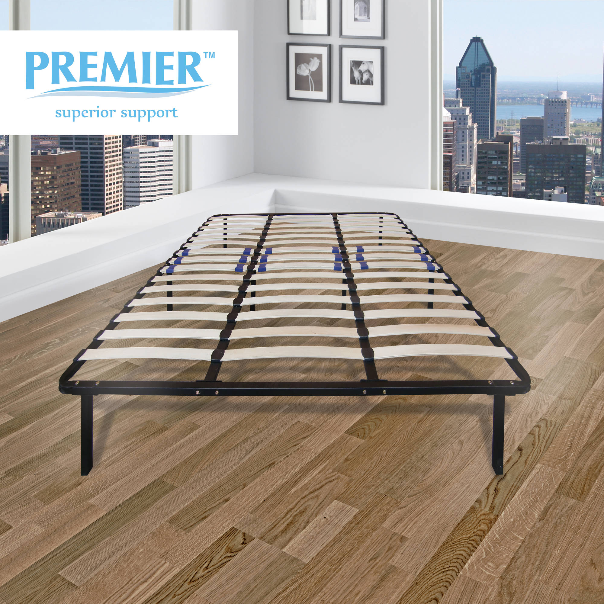 Premier Flex Platform Bed Frame with Adjustable Lumbar Support, Multiple Sizes