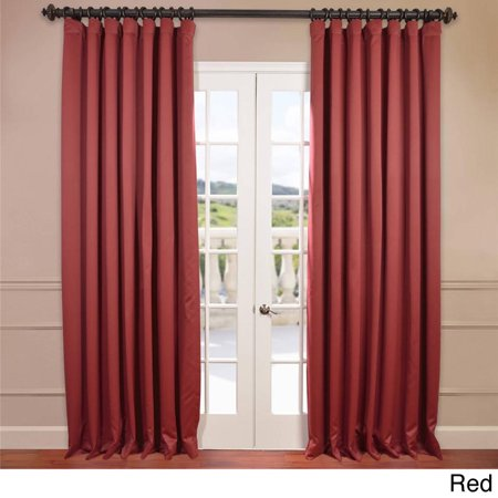 Eff Extra Wide Thermal Blackout Grommet Top 84 Inch Curtain Panel Red
