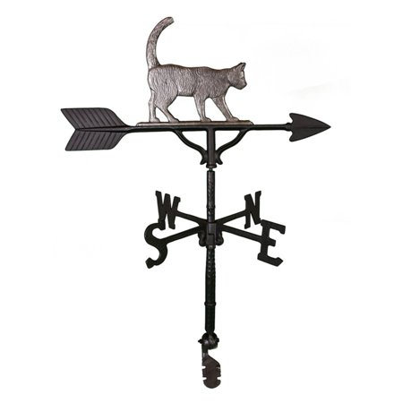 Swedish Iron Cat Weathervane - 32 in.