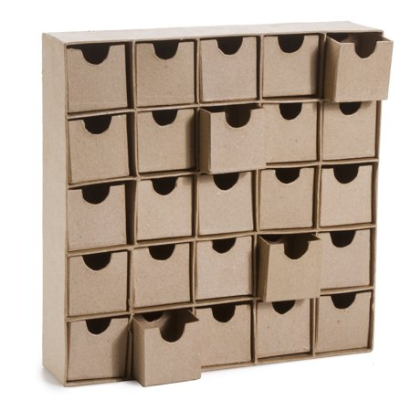 Unfinished Paper Mache Boxes: 25 Compartments - Halloween Decorations Paper Mache