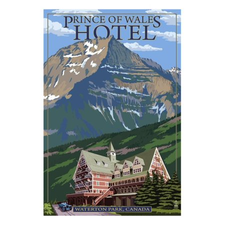 Waterton Lakes National Park, Canada - Prince of Wales Hotel Print Wall Art By Lantern - Canadian National Hotels