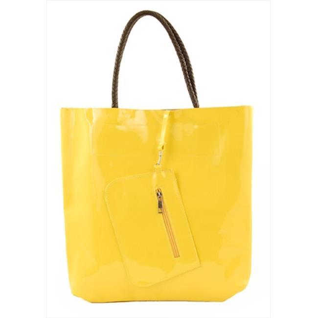 Catherine Lillywhite GC1118YL 14 X 14 inch Yellow Patent Handbag