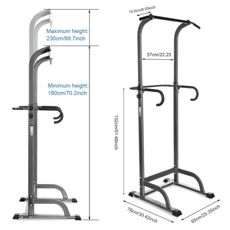 Power Tower with Push Up, Pull Up, Dip Stations, Knee Raise