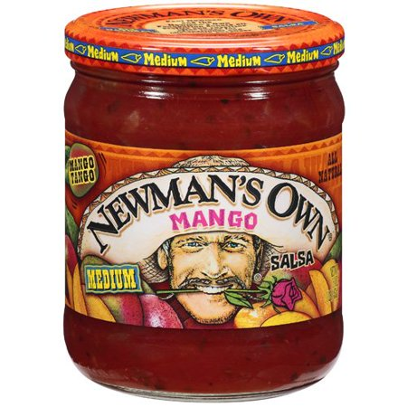 Newmans own mango medium salsa16 oz (2 Pack) - Mango Cilantro Salsa