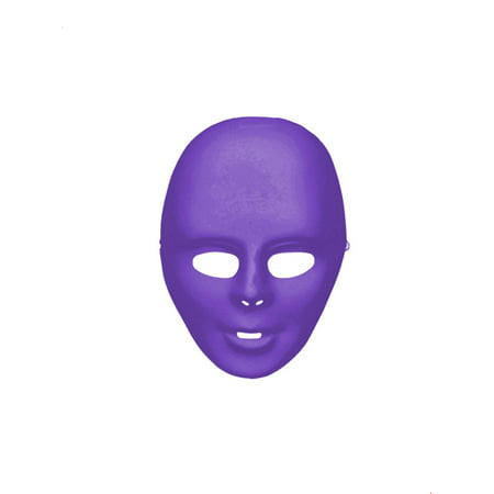 Purple Full Face Mask Halloween Costume Accessory (Halloween Zipper Face Uk)