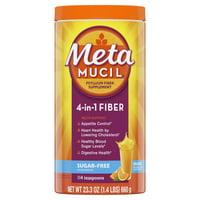 Metamucil Psyllium Sugar-Free Fiber Supplement Powder, Orange 114 Tsp