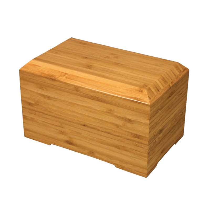 Bamboo Biodegradable Cremation Urn - Extra Large 244 Pounds -  Brown Tribute - Engraving Sold Separately