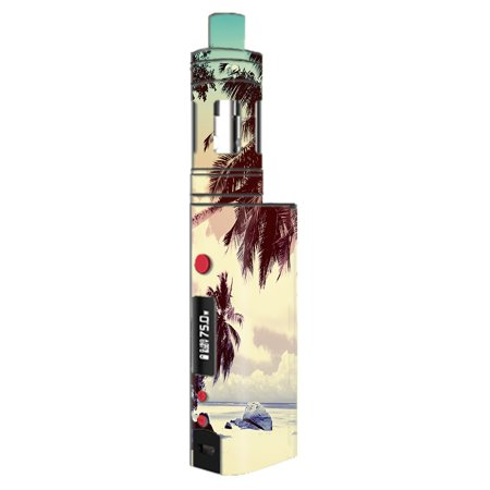 - Skin Decal For Kangertech Topbox Mini Kanger Vape Mod / Palm Trees Vintage Beach Island