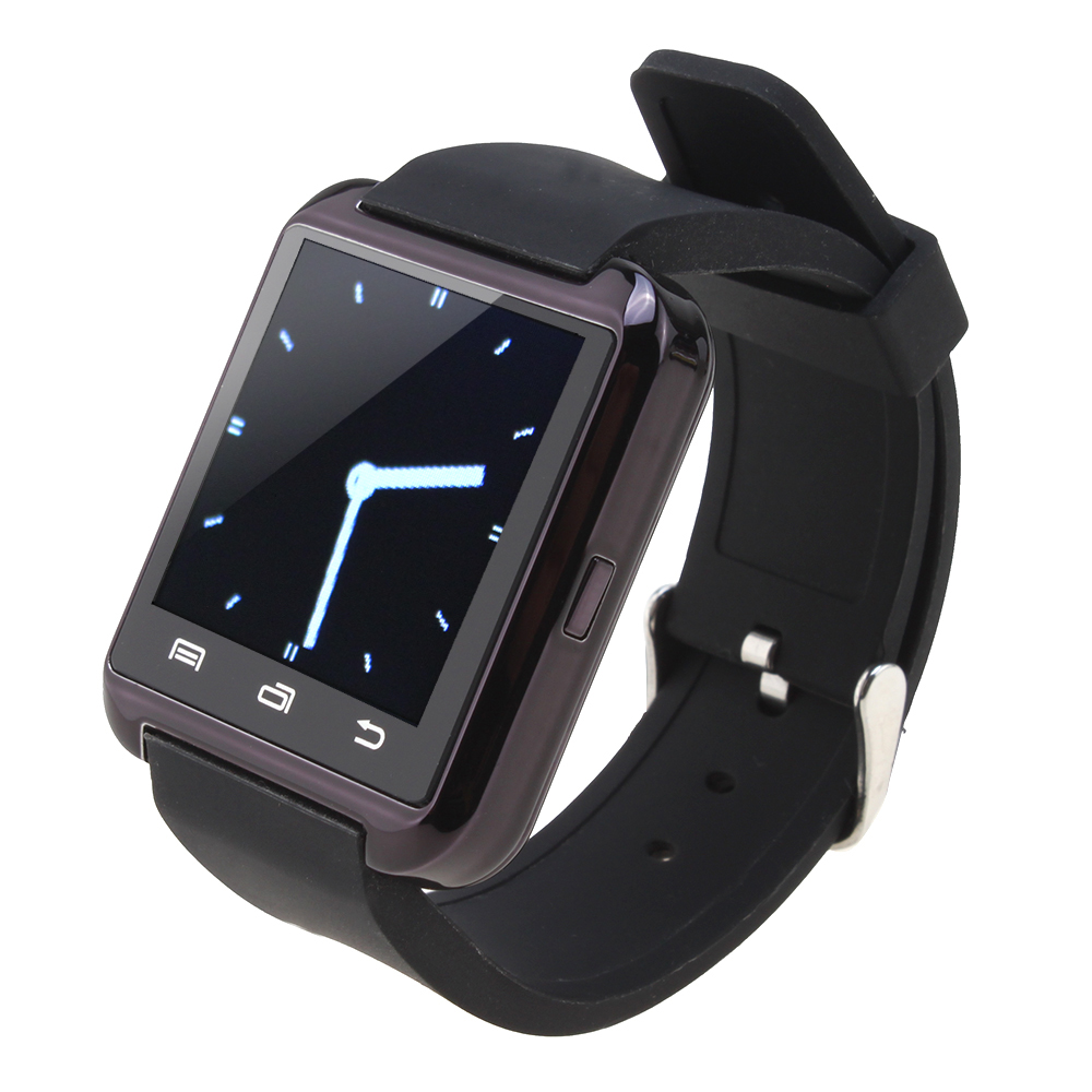 6b022af13d9039 AGPtEK Black U8 Bluetooth Smart Wrist Watch Phone Mate for Android Samsung  iPhone HTC LG (MTK chip) With Touch Screen - Walmart.com