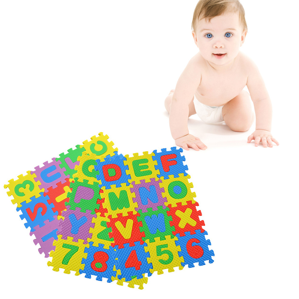 36pcs Colorful Puzzle Kid Educational Toy Alphabet A-Z Letters Numeral Foam Play Mat self-assemble Baby Crawling Pad