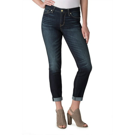 c7ae70d2f8ef Signature by Levi Strauss & Co. Women's Mid Rise Slim Cuffed Jeans -  Walmart.com