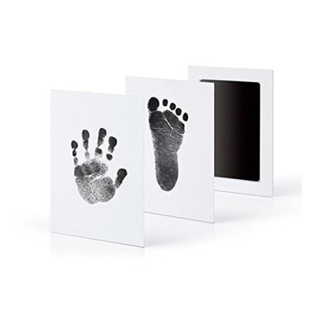 Baby Care Non-Toxic Baby Handprint Footprint Imprint Kit Newborn Ink Footprint Pad to Create Baby's Prints(Black) - Halloween Handprint Footprint Crafts