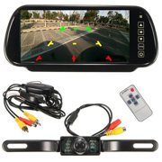 "iMeshbean 7"" LCD Mirror Monitor+Wireless Car Reverse Rear View Backup Camera Night Vision"