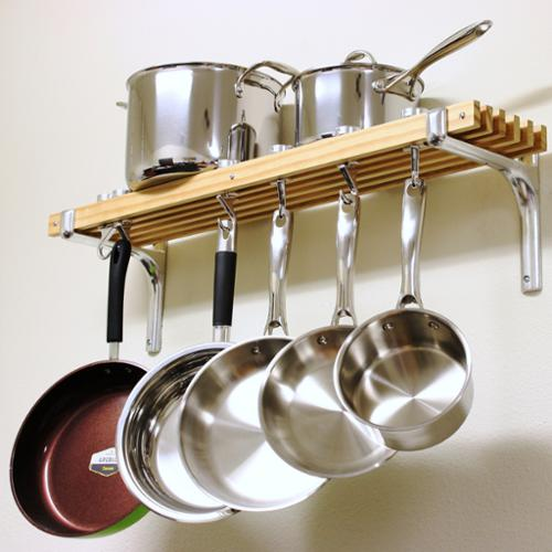 Cooks Standard Wall Mount Pot Rack 36 by 8Inch Walmartcom