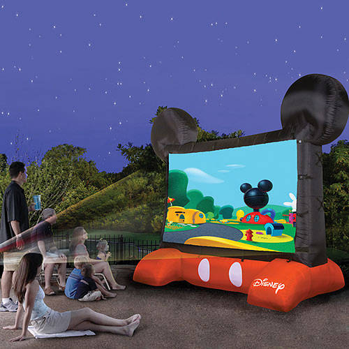 Disney Mickey Mouse Inflatable 10ft Diagonal Outdoor Movie Screen for Backyard Theater