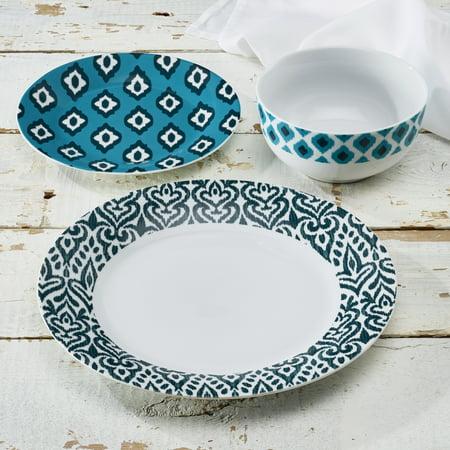 Turkish Blue 12 Piece Set - Teal Dinnerware