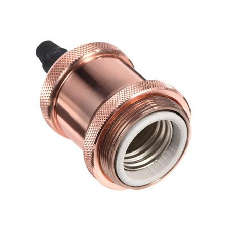 Yosoo Vintage E27/ E26 Bulbs Socket Holder / Base Copper Lamp Holder for Antique Light Bulb 90-260V,Lamp Holder, Vintage E27/ E26 Lamp Holder - image 8 of 8