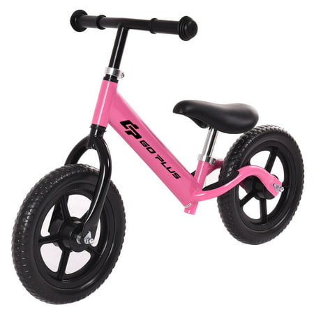 Goplus 12'' Balance Bike Classic Kids No-Pedal Learn To Ride Pre Bike w/ Adjustable