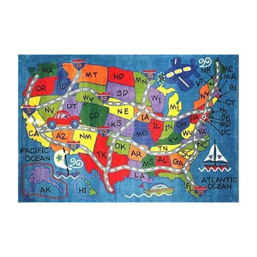 Fun Rugs Supreme Travel Fun Classroom Area Rug
