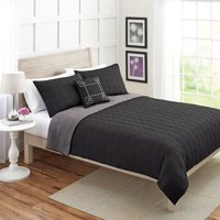 Better Homes & Gardens King Solid Quilt Set, 4 Piece
