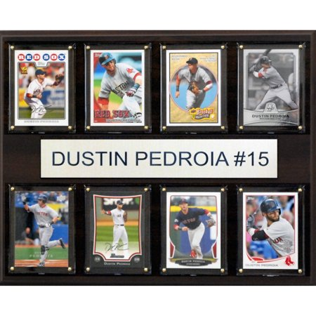 - C&I Collectables MLB 12x15 Dustin Pedroia Boston Red Sox 8-Card Plaque